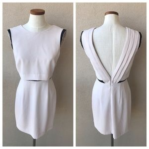 NWT Warehouse Pleated Low Back Embellished Dress